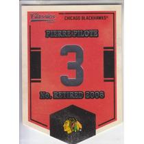 2012-13 Classics Banner Numbers Pierre Pilote Blackhawks Nhl