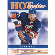 2011-2012 Score Hot Rookies Mark Katic D New York Islanders