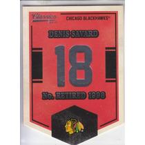 2012-13 Classics Banner Numbers Denis Savard Blackhawks Nhl
