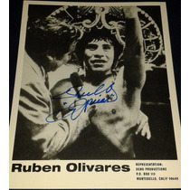 Fotografia Autografiada Firmada Ruben Puas Olivares Box