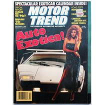 Motor Trend Diciembre 1982 Revista De Autos Auto Exotica