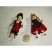 Antiguos Muñecos Figuras Parejita Plástico Antiguo