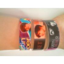 3 Pulseras Justin Bieber, Selena Gomez, Demi Lovato, Ndd
