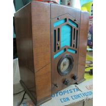 Antiguo Radio Con Madera Marca Posible Crosley