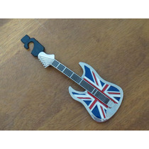 Import Guitarra Hebilla Cinto Def Leppard Bandera Inglaterra