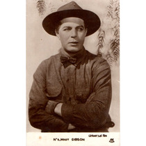 Postal Original Del Actor Hoot Gibson Hecho En Francia
