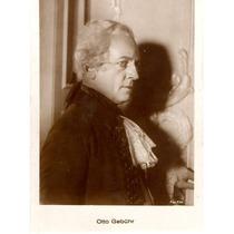 Postal Original Del Actor Alemán Otto Gebühr Fox Film