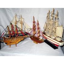 4 Barcos De Madera Coleccion Escala Islas Bahamas-st.kitts