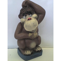 Antigua Alcancía Gorila Vintage 70´s Vinilo Una Joya Retro