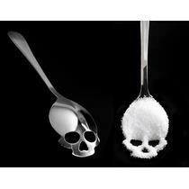 Cuchara Calavera Cráneo Goth Dark Punk Harajuku Skull