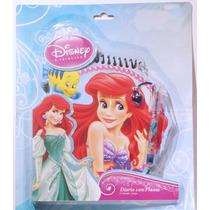 La Sirenita Ariel Disney Diario Con Pluma / Nuevo Original