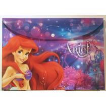 La Sirenita Ariel Disney 3 Sobres Plastificados / Nuevos