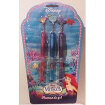 La Sirenita Ariel Disney Set De Plumas De Gel / Nuevo