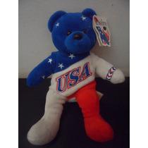 Peluche God Bless America Souvenir Team Bears Authentic Oso