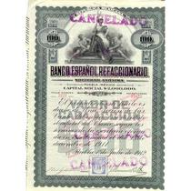 Acción Bono Banco Español Refaccionario 1911
