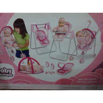 Set Carreola-portabebe-periquera Baby Botique Rm4