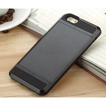 Funda Iphone 6 Uso Rudo Deslizable Secreto Tarjeta Negro