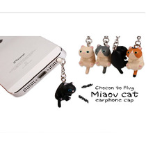Plug Antipolvo Mayoreo Celular Gatos Gatitos Colguije
