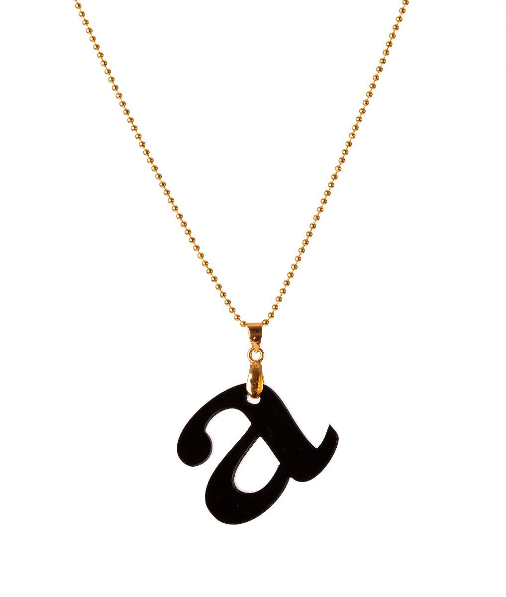 Collar van grieken letra b acrilico ba o de oro 18k - Bano de oro precio ...
