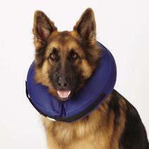 Collar Inflable Con Correa Perros Gatos Grande Isabelino