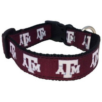Collar Ncaa Dog Collar [large, Texas-a-m-aggies]