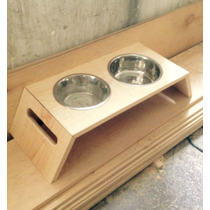 Base Con Platos Para Mascotas Diferentes Medidas