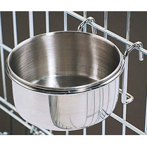 Plato De Acero Inoxidable Para Jaulas O Kennel Bowl 24 Oz.