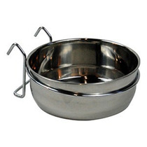 Plato De Acero Inoxidable Para Jaulas O Kennel Bowl 32 Oz.