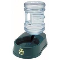 Fuente Ser Llenado Agua Pet Bowl Set Con Botella Verde