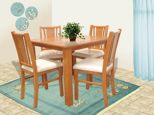 Comedor 4 sillas muebles el angel 4 en mercadolibre for Comedor de madera 4 sillas