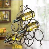 Estante Para Botellas De Vino Gifts+ Decor Hierro Espiral