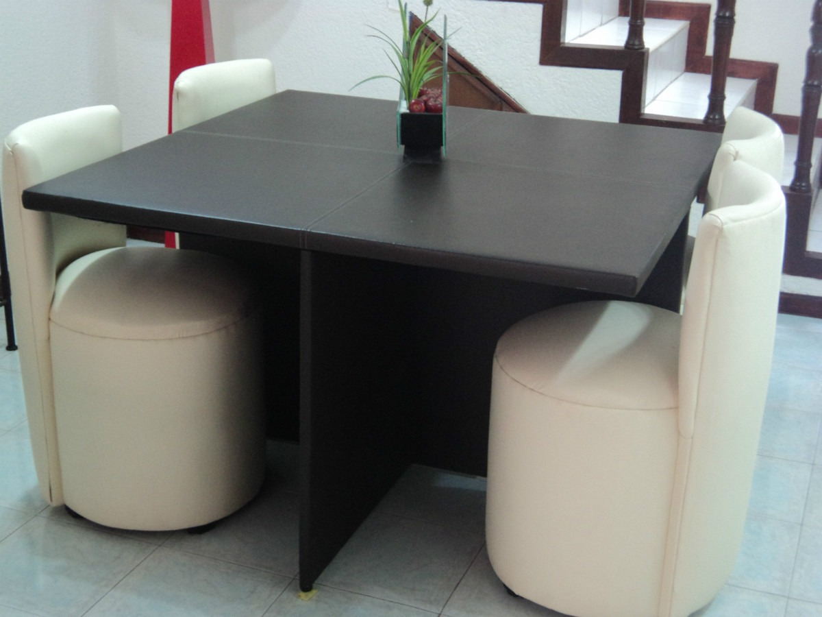 Comedor antecomedor mesa y 4 sillas lounge minimalistas for Sillas para playstation 4