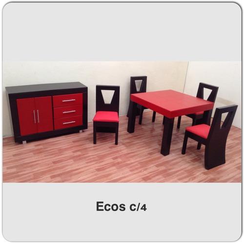 Comedor de 4 sillas 6 en mercadolibre for Comedor pequea o 4 sillas