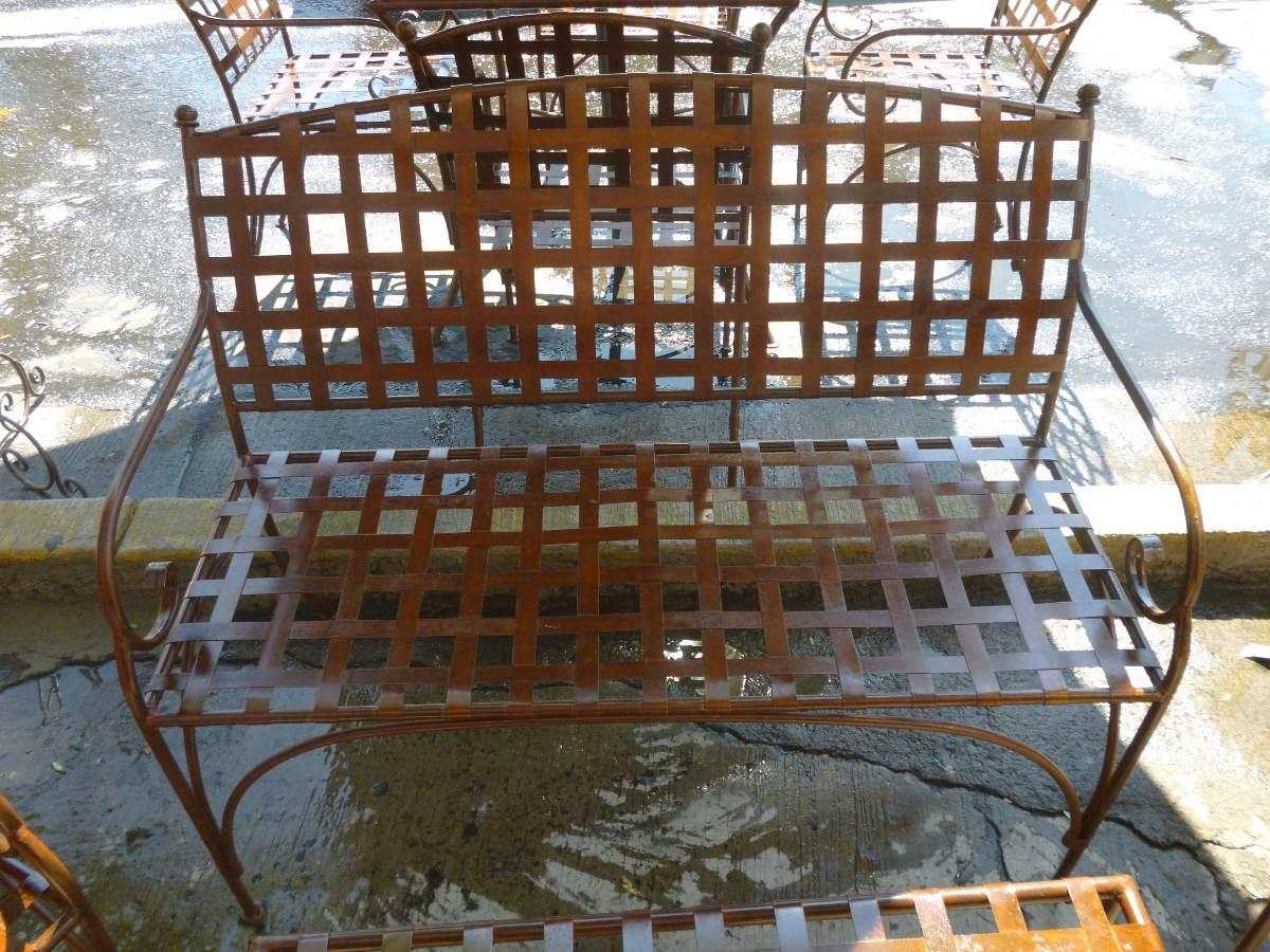 Comedor de jardin en hierro forjado exterior 3 for Comedor hierro forjado