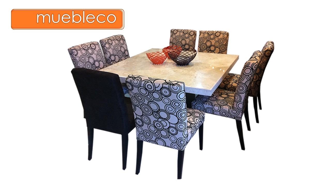 Comedor m rmol 8 sillas muebleco muebles mesa env o gratis for Comedor de marmol 8 sillas precio