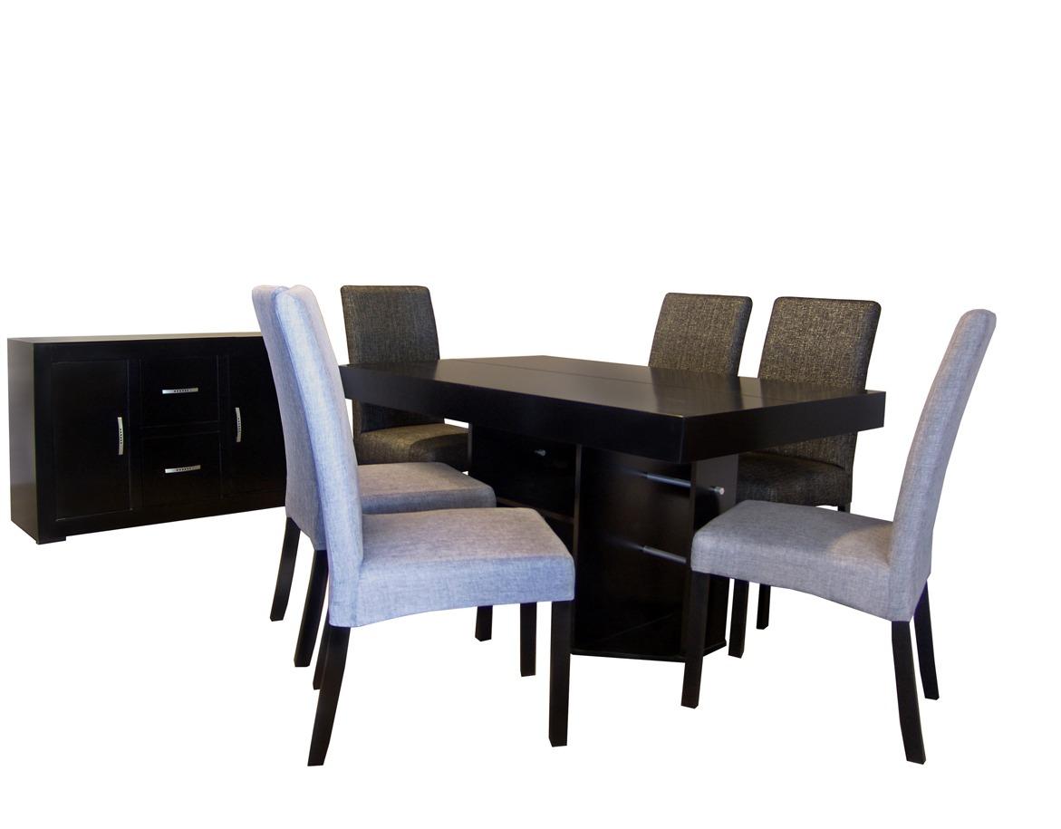 Comedor seis sillas tapizadas muebles el angel hm4 for Comedor sillas tapizadas