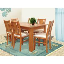 Comedor 6 sillas muebles el angel hm4 for Comedores coppel
