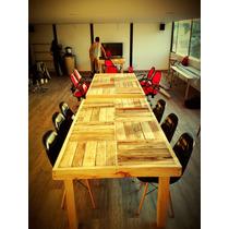 Mesa Larga Comedor-oficina De Madera Reciclada