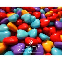 14 Febrero Regalo Dulces Corazón Confitado Azul Rosa Yummy