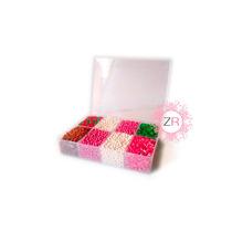 Estuche Navideño: Confeti Navidad Perlas Nacaradas Bastones