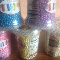 6 Perlas Colores Dulce Cup Cakes Postres Pastel Decorado