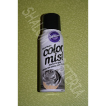 *spray Comestible Negro Color Mist Wilton Pastel Fondant*