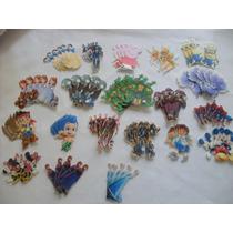 Paquete 5 Figuras Oblea Comestible Para Decoración Cupcake