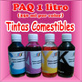 Tintas Comestibles Paq 1 Litro 250ml Por Color Cmyk