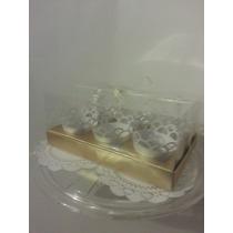 Caja De Acetato Para 6 Cupcakes Con Listón Y Wrappers