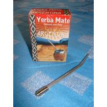 Yerba Mate Misionera Pack 100 Gs Con Bombilla