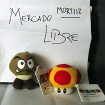 Pack Llaveros Goomba Hongo Amarillo Mario Bros Original