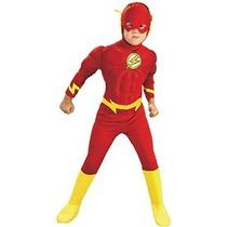 Rubíes Dc Comics Deluxe Muscle Chest The Flash Disfraz Peque