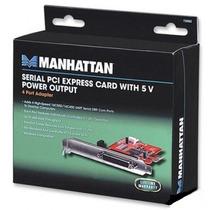 Tarjeta Serial Manhattan 150682 4 Puertos Pci Express +b+