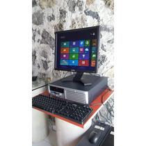 Computadoras Hp Core 2 Duo 1gb 80gb Monitor Plano Lcd Barata